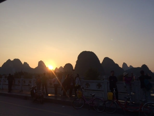 Sunset at Yangshuo