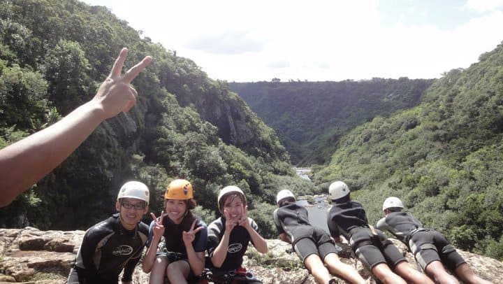 Canyoning at Tamarin Falls