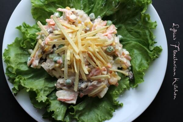 Score Big with Salpicão {Brazilian Chicken Salad}