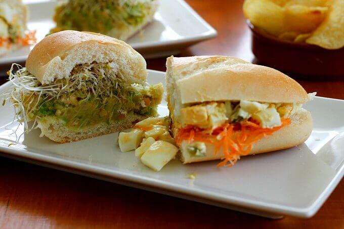 A Pair of Veggie Sandwiches