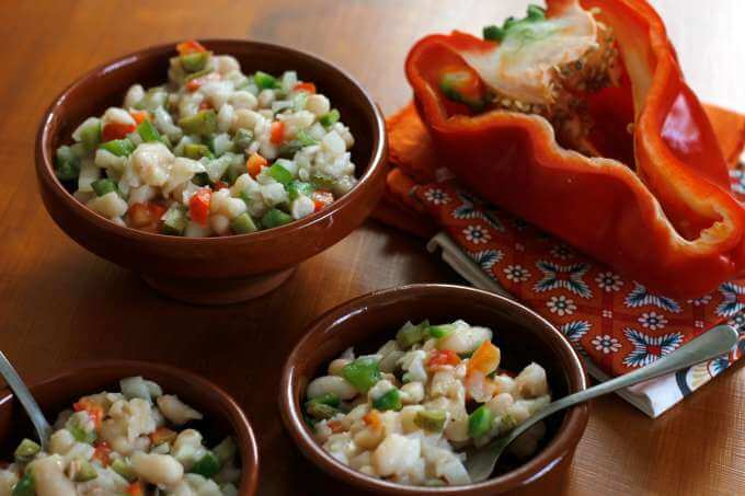 Alubias en Vinagreta (A White Bean Salad)