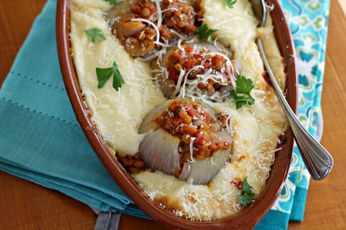 Nigel Slater's Lentil Stuffed Onions