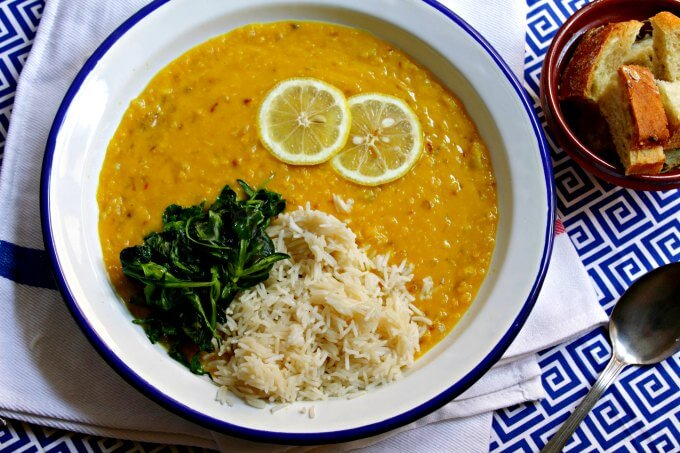 Lemony Red Lentil and Onion Soup ~ Vegan, but Omnivore Friendly ~ Lydia's Flexitarian Kitchen
