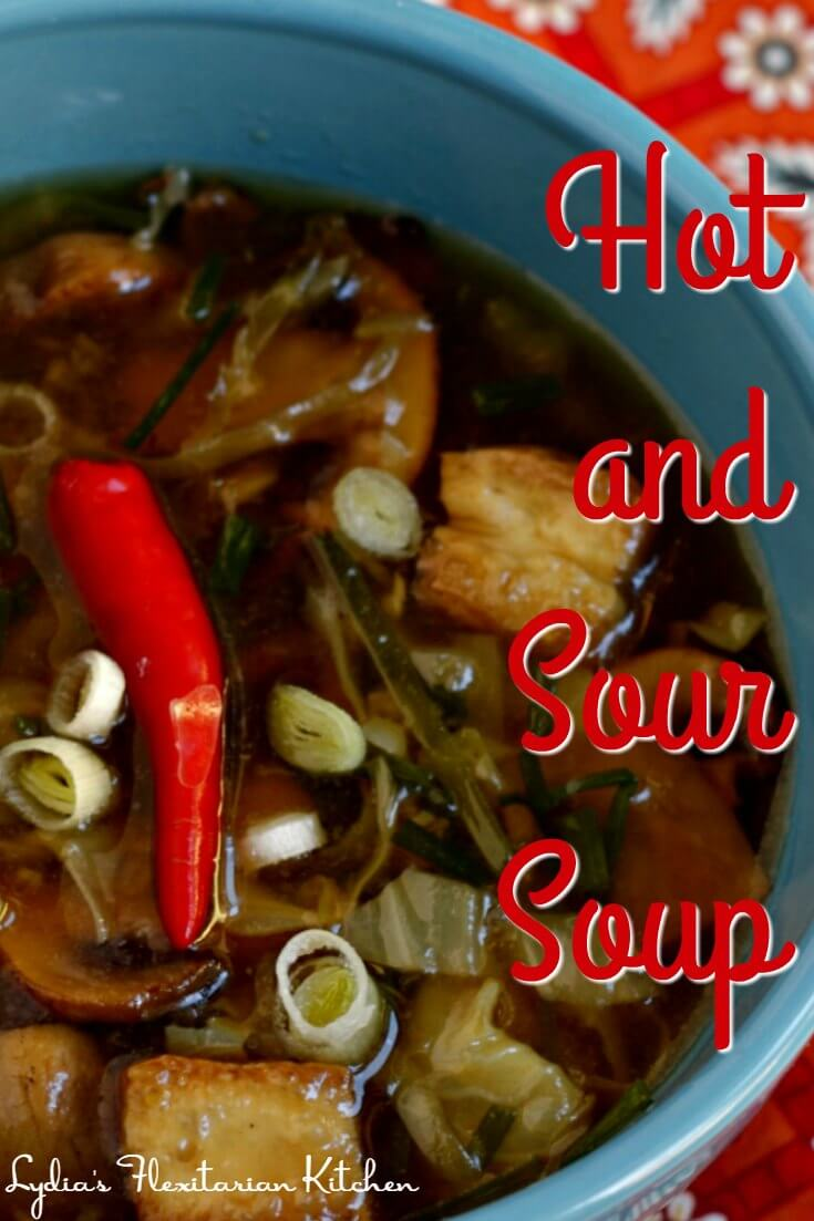 You control the heat when you make Hot and Sour Soup at home. In our house, if you break out in a sweat, it might be hot enough!