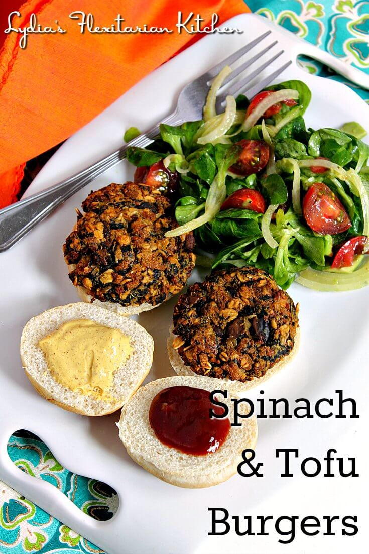 Make a double batch of spinach and tofu burgers and you'll always have some on hand in the freezer.