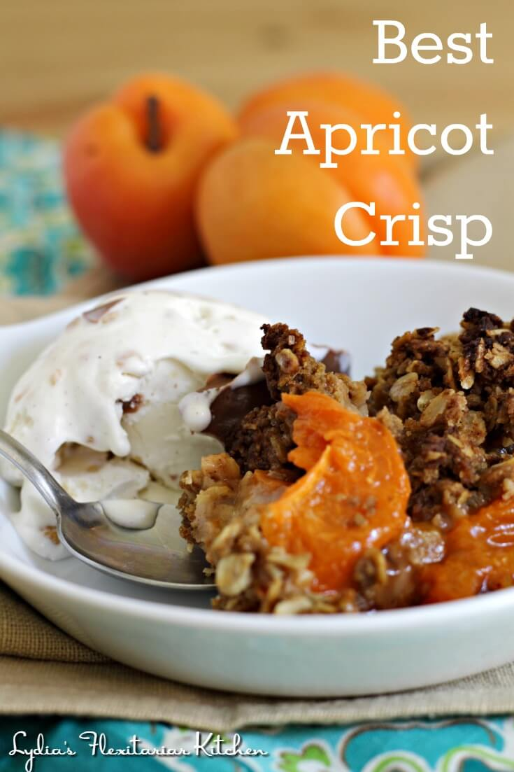 Finally! A crisp topping that stays crispy! Make your best apricot crisp with this recipe and give it a try for other seasonal fruit, too!