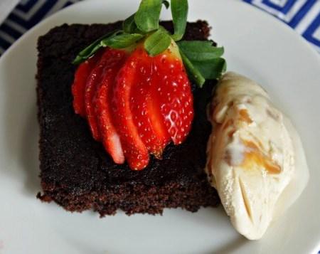 Chocolate Semolina Cake ~ Lydia's Flexitarian Kitchen