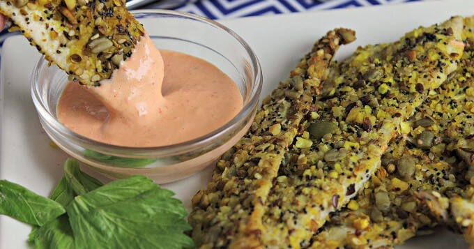 Dukkah Crusted Chicken Strips