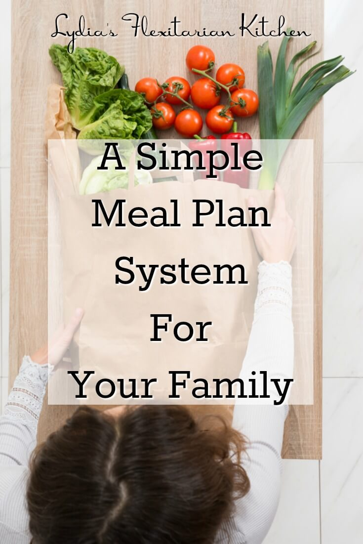 A Simple Meal Plan System for Your Family ~ Lydia's Flexitarian Kitchen