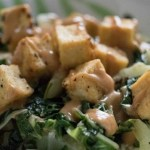 One Skillet Tofu and Bok Choy With Asian Style Peanut Sauce ~ Lydia's Flexitarian Kitchen