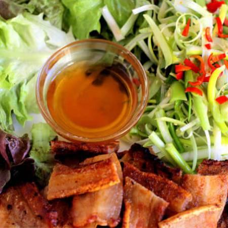 Korean BBQ Pork Belly with Scallion Salad ~ #ABRAMSDinnerParty ~ Lydia's Flexitarian Kitchen