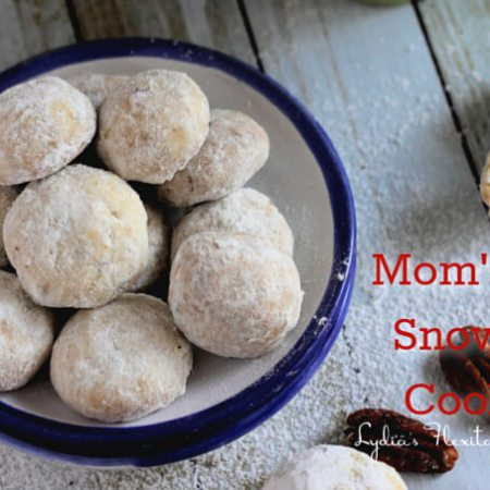 Mom's Nut Snowballs ~ Lydia's Flexitarian Kitchen