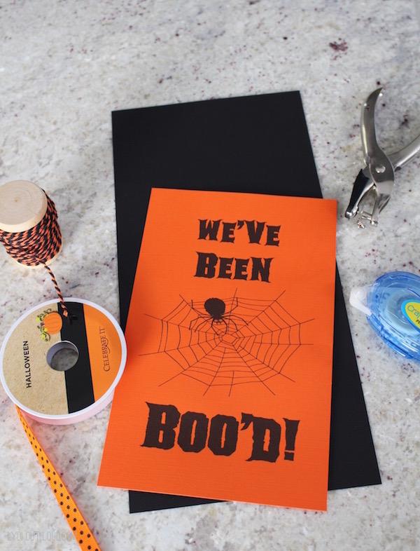 We've Been Boo'd sign supplies