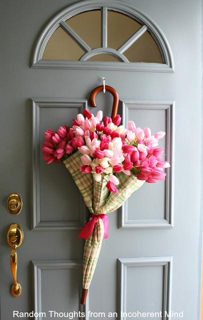 """April Showers"" wreath - so cute for Spring!"