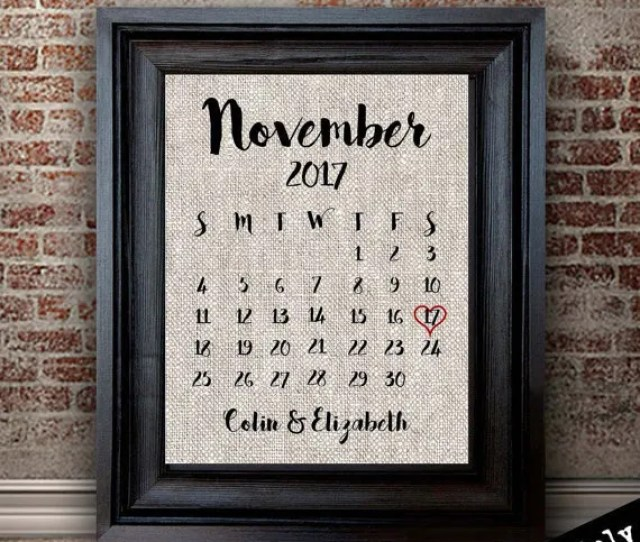 Wedding Date Cotton Print This Would Be A Perfect Nd Year Wedding Anniversary Gift
