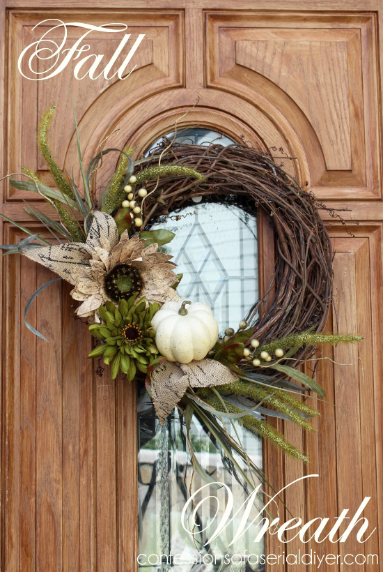 I love DIY fall wreaths and this neutral one is so beautiful!