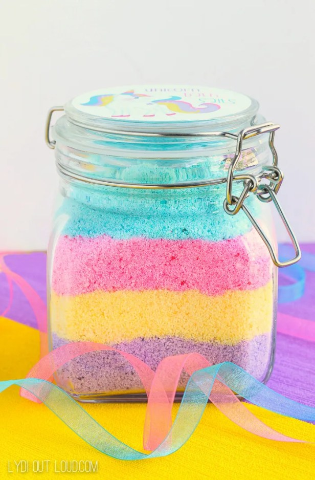 Unicorn Fizzy Bath Salts - so cute!