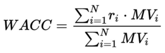 WACC formula