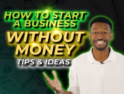 start a business without money