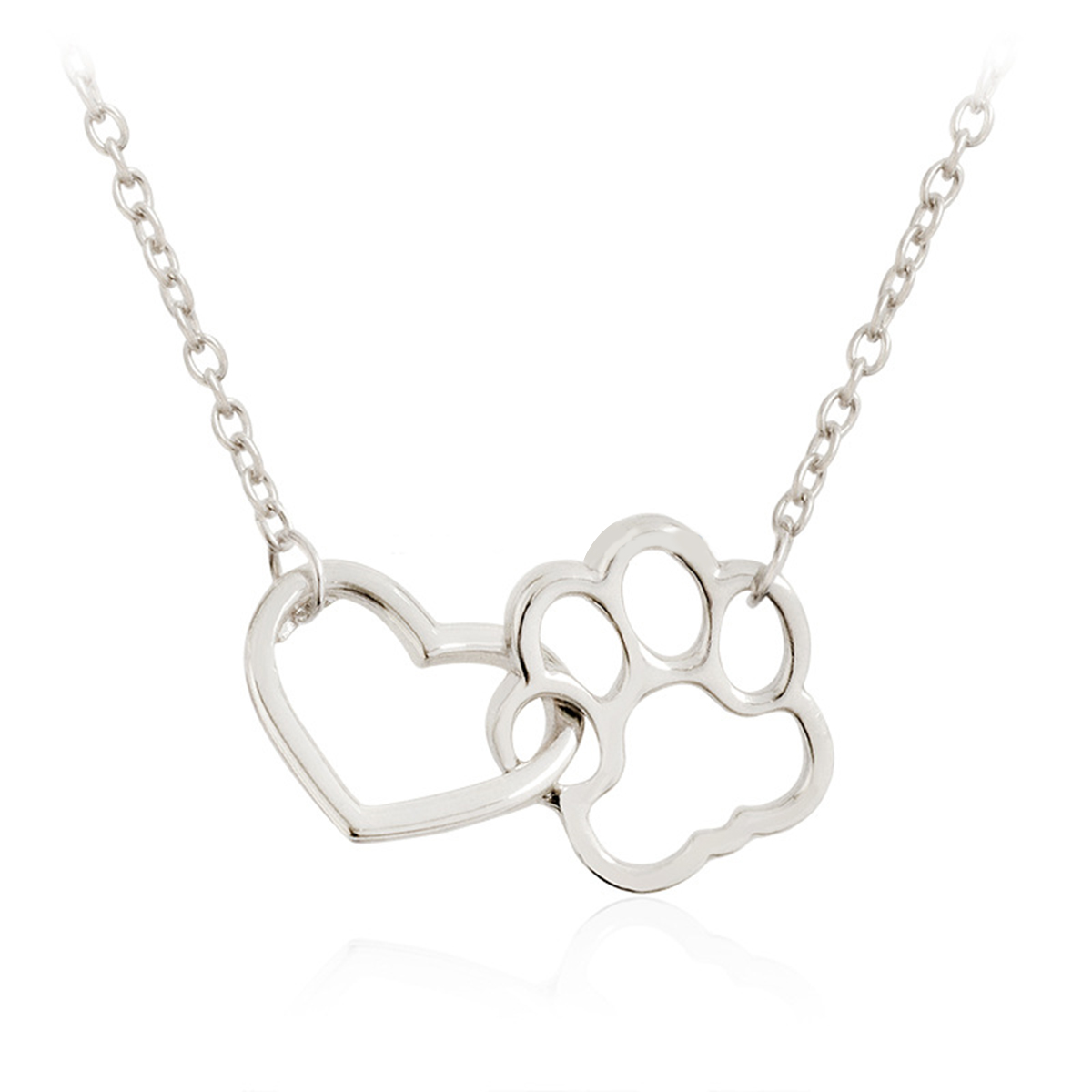 Hollow pet paw footprint necklaces shellhard cute animal dog cat hollow pet paw footprint necklaces aloadofball Images