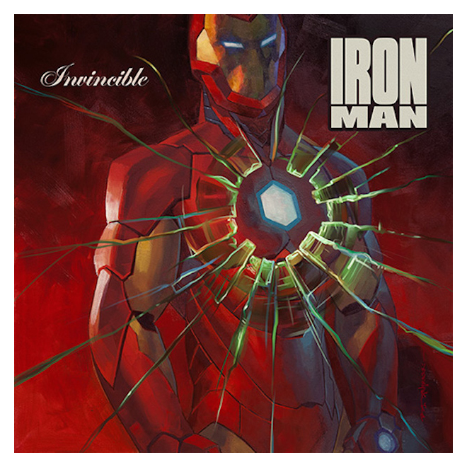 Invincible Iron Man #1 by Brian Stelfreeze 50 Cent - Get Rich Or Die Tryin'