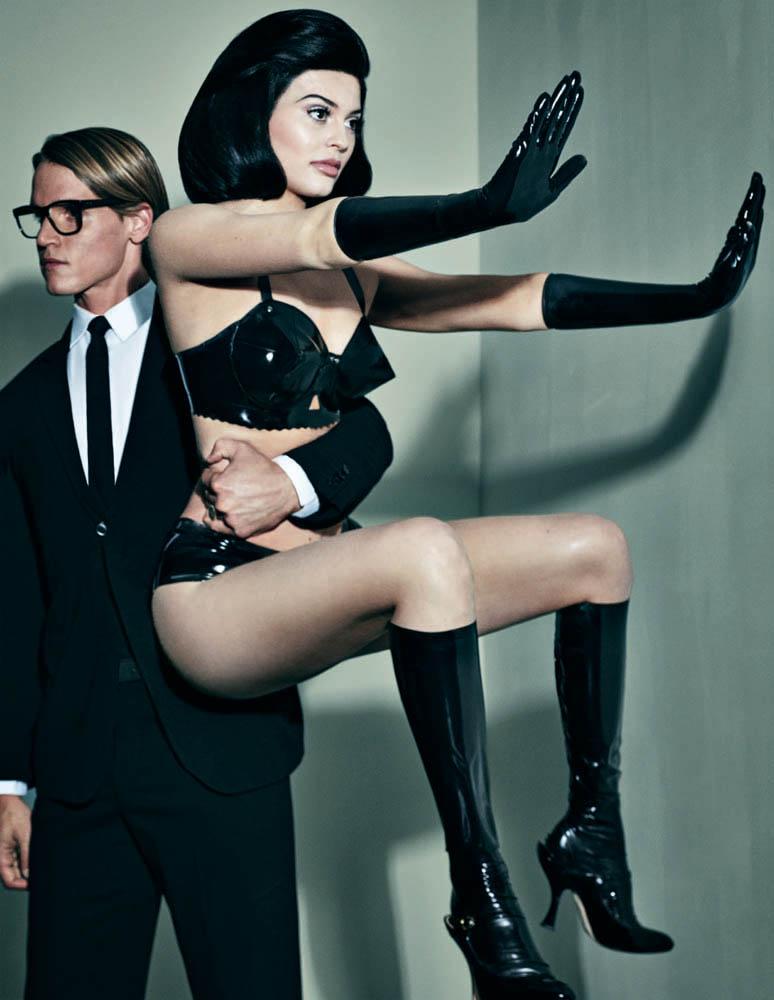 Kylie Jenner Gets Frisky for 'Interview' Magazine - LYFSTYL