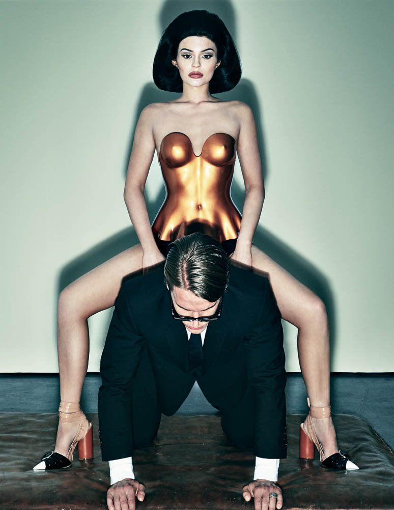 Kylie Jenner Gets Frisky for 'Interview' Magazine - LYFSTYL