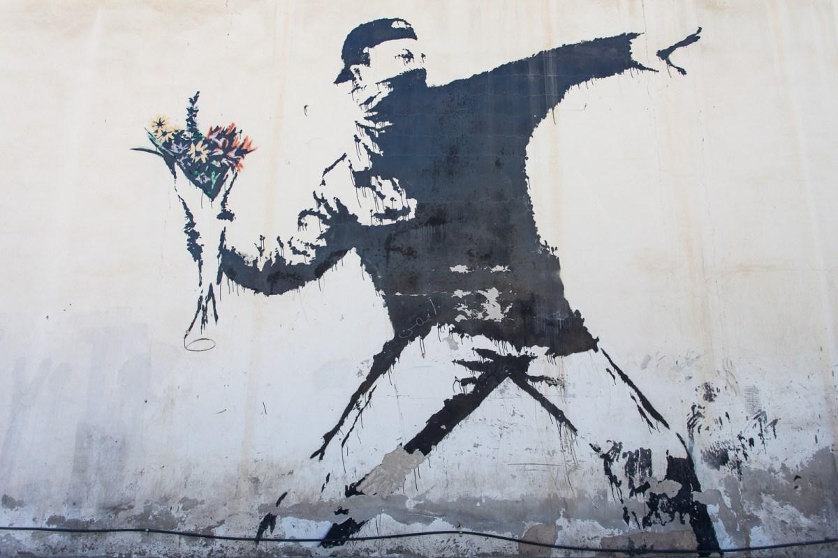 Banksy Flower Thrower Radical Art of Berlin
