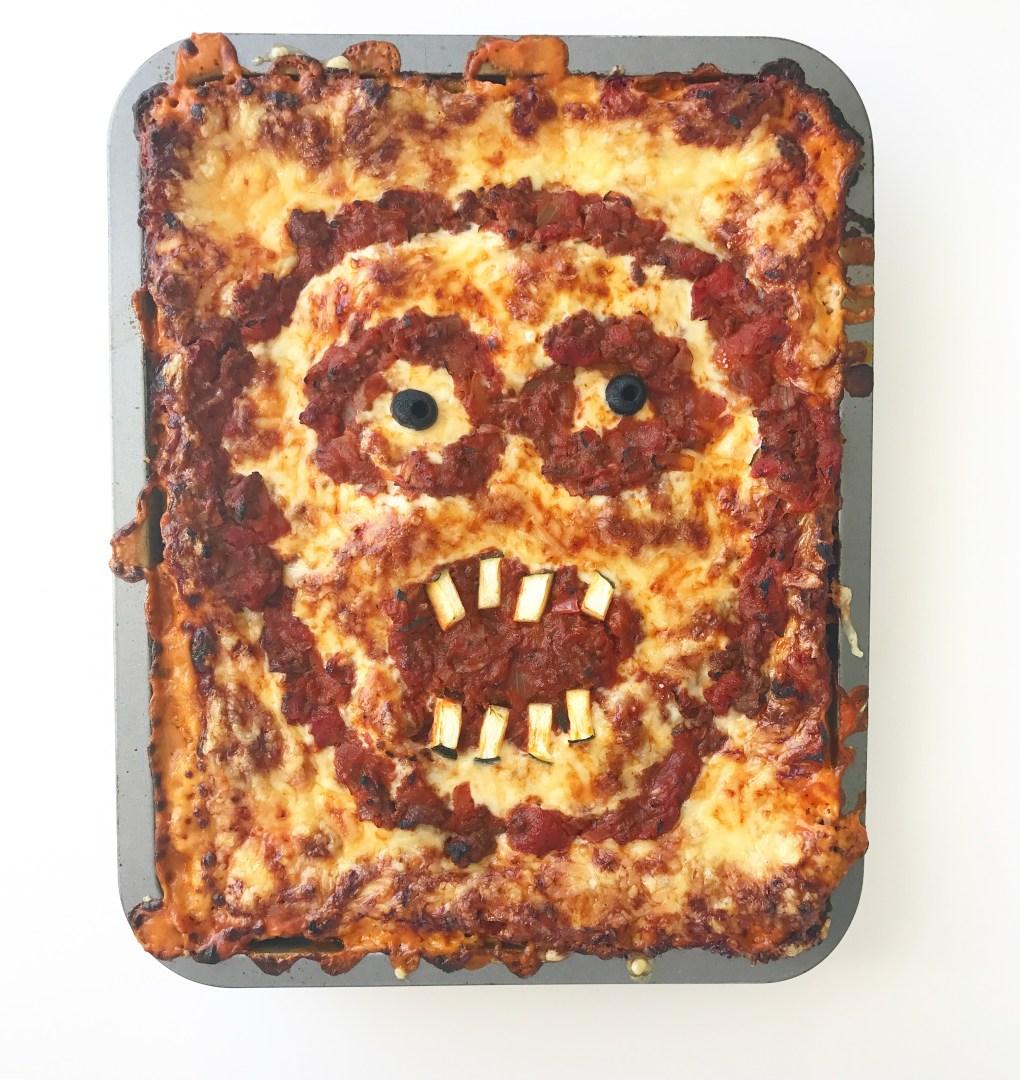 Halloween lasagne