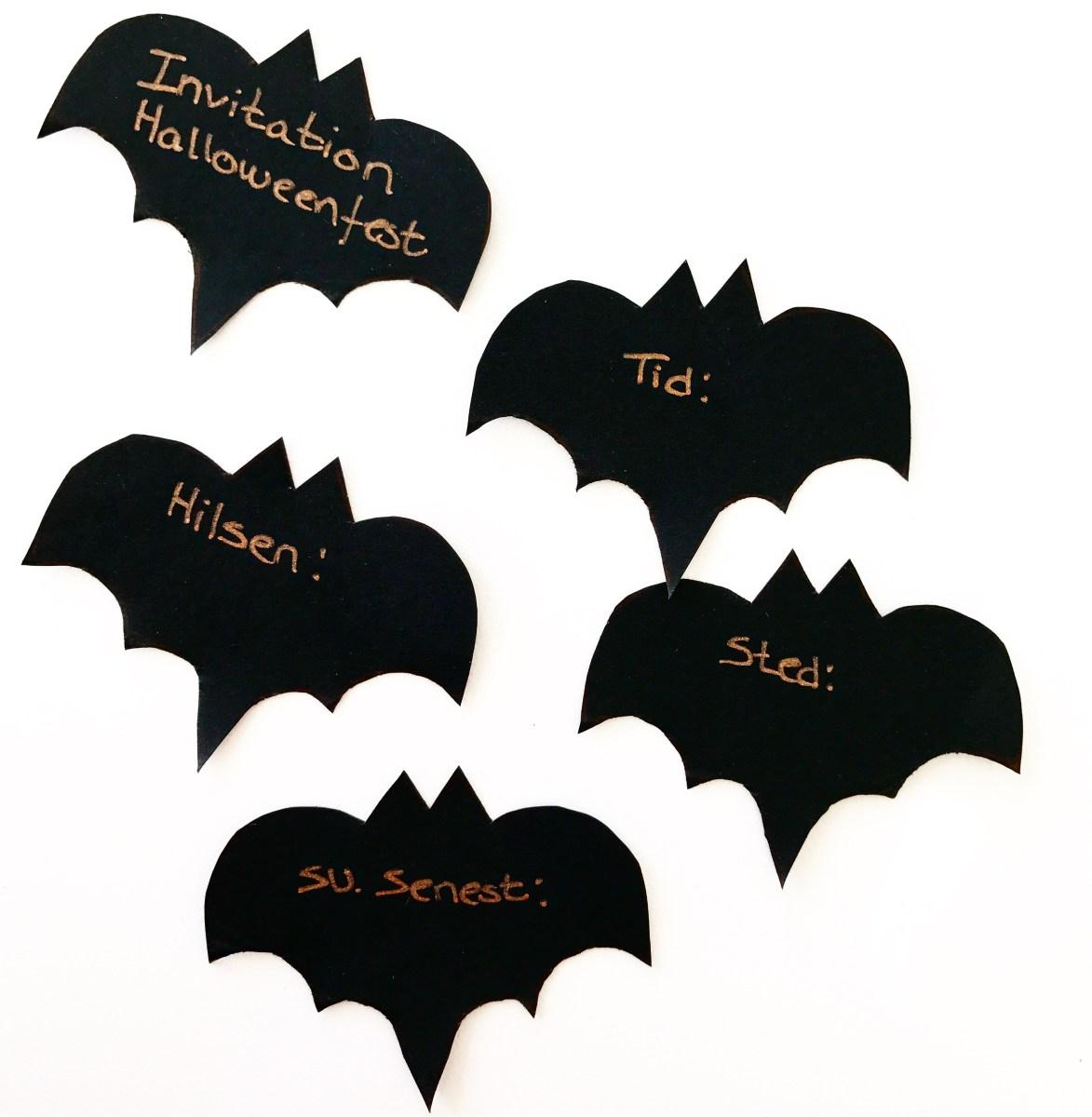Halloween invitationer