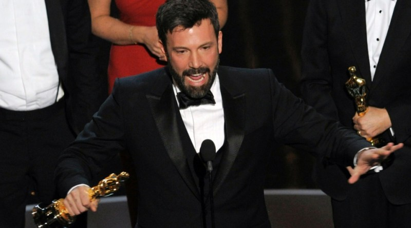 Ben Affleck celebrates Argo winning 2013 Best Picture Oscar