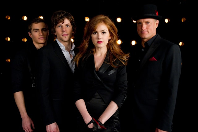 now you see me dave-franco-jesse-eisenberg-isla-fisher-and-woody-harrelson-min