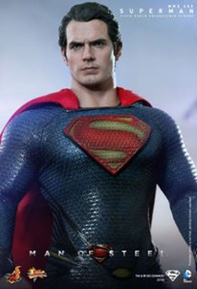 Hot Toys Man of Steel Superman standing close up