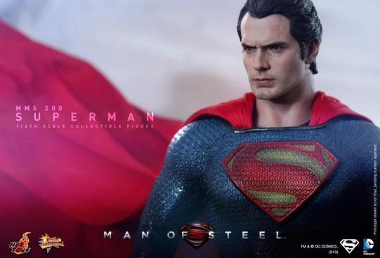 Hot Toys Man of Steel Superman staring