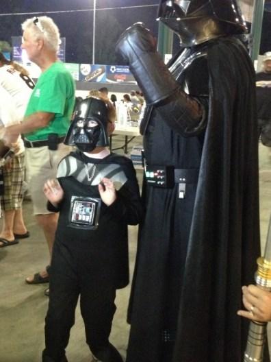 Star Wars Night - Darth Vader and his Darth Vader Jr.