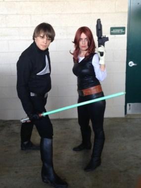 Star Wars Night - Jedi Luke and fermale Han Solo