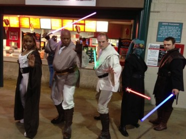 Star Wars Night - Jedi with lightsabers
