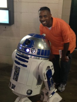 Star Wars Night - me and R2-D2