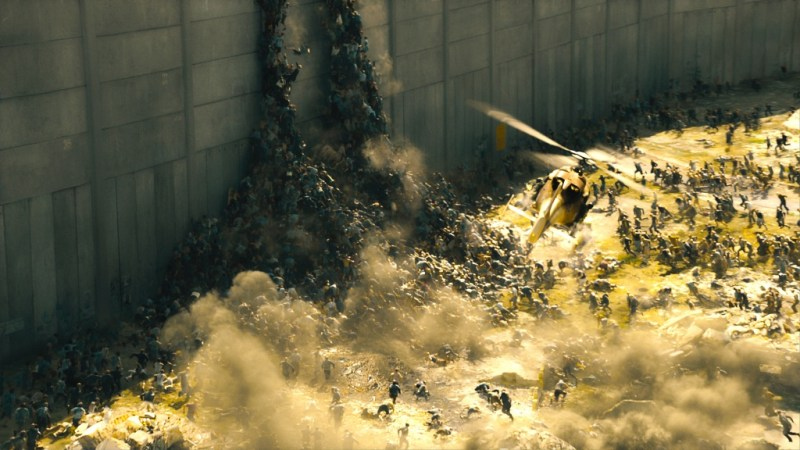 MPC-London/ Paramount Pictures The infected scale the Israeli walls.