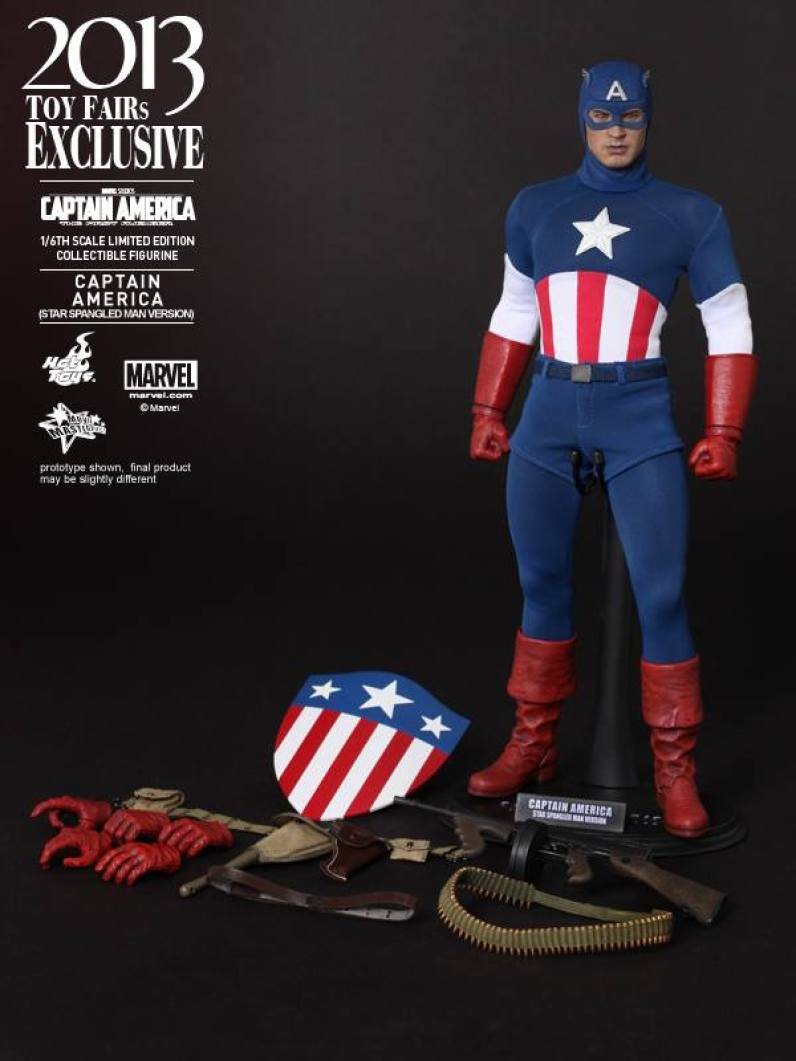 Hot Toys Captain America Star Spangled Man accessories