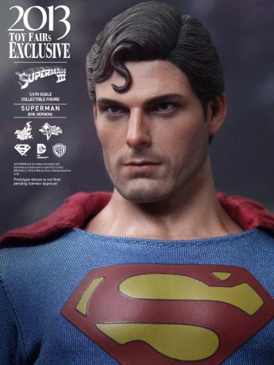 Hot Toys Superman III Evil Superman head side