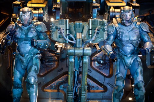 Kerry Hayes/Warner Bros. Pictures Herc Hansen (Max Martini) and Chuck Hansen (Rob Kazinsky) strap in.