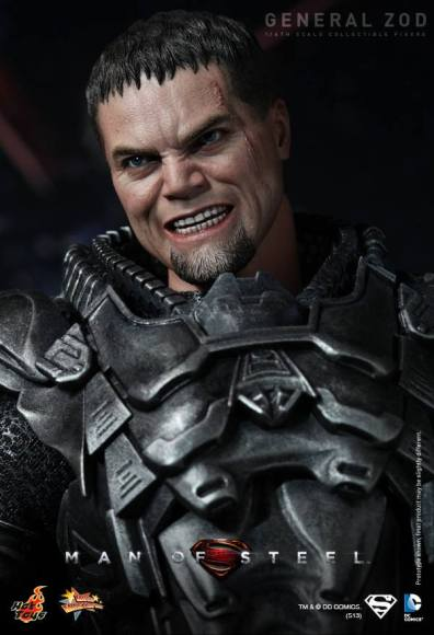 Hot Toys Man of Steel General Zod closer armor and head shot