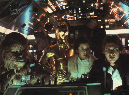 The Empire Strikes Back - Chewbacca, Princess Leia, C3-PO and Han Solo
