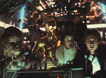 The Empire Strikes Back - Chewbacca, Princess Leia, C3-PO and Han Solo
