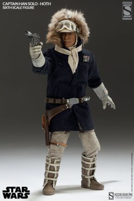 Sideshow Toys Captain Han Solo Hoth aiming