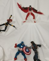 Captain America, Falcon and Black Widow vs The Winter Soldier