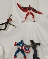 Captain America, Falcon and Black Widow vs The Winter Soldier