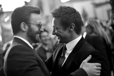 Alberto E. Rodriguez/Getty Images Chris Evans and Jeremy Renner