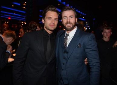 Alberto E. Rodriguez/Getty Images Sebastian Stan and Chris Evans